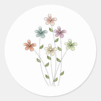 Gram's Garden · Flowers Round Stickers
