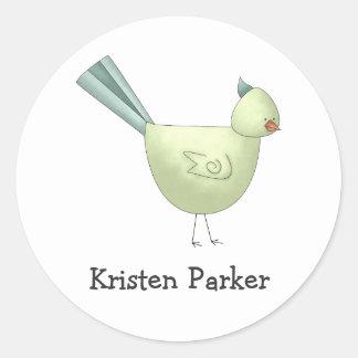 Gram's Garden · Green Bird Round Sticker
