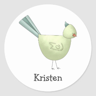 Gram's Garden · Green Bird Stickers