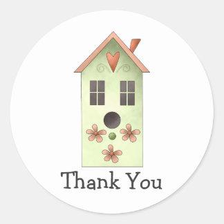 Gram's Garden · Green Birdhouse Round Sticker