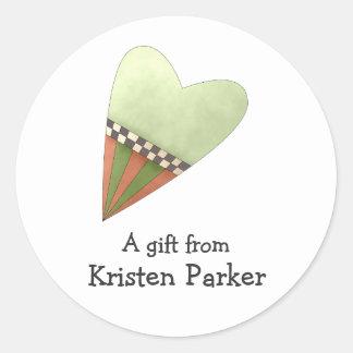 Gram's Garden · Green Heart Round Sticker