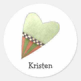 Gram's Garden · Green Heart Sticker