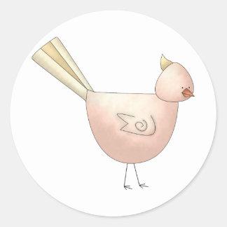 Gram's Garden · Pink Bird Classic Round Sticker