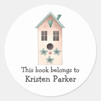 Gram's Garden · Pink Birdhouse Sticker