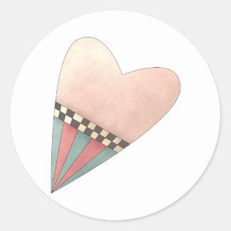 Gram's Garden · Pink Heart Classic Round Sticker