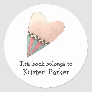 Gram's Garden · Pink Heart Round Sticker