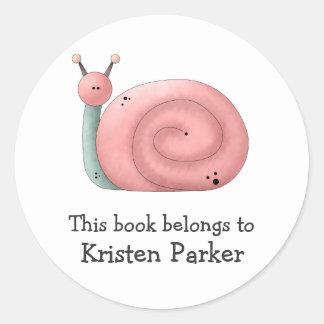 Gram's Garden · Pink Snail Round Sticker