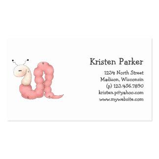 Gram's Garden · Pink Worm Pack Of Standard Business Cards