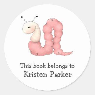 Gram's Garden · Pink Worm Round Sticker