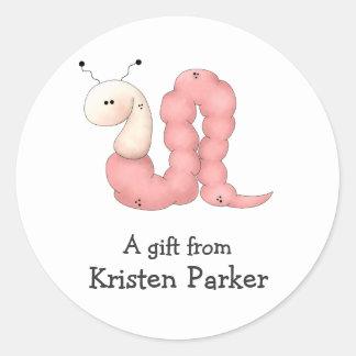 Gram's Garden · Pink Worm Sticker