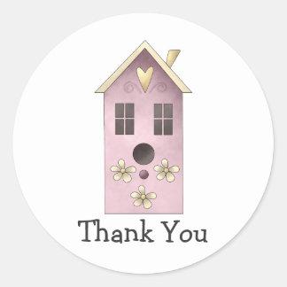 Gram's Garden · Purple Birdhouse Classic Round Sticker