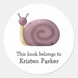 Gram's Garden · Purple Snail Round Sticker
