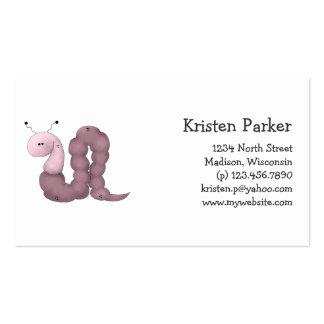 Gram's Garden · Purple Worm Pack Of Standard Business Cards