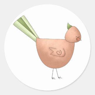 Gram's Garden · Red Bird Round Sticker