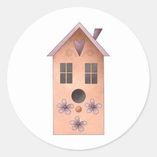 Gram's Garden · Red Birdhouse Classic Round Sticker