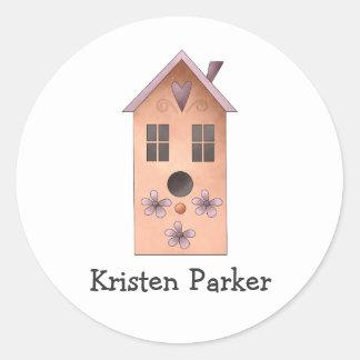 Gram's Garden · Red Birdhouse Round Sticker