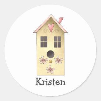 Gram's Garden · Yellow Birdhouse Round Sticker