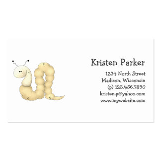 Gram's Garden · Yellow Worm Pack Of Standard Business Cards