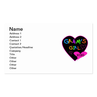 Gram's Girl Custom T-Shirts, Mugs, Buttons, Cases Double-Sided Standard Business Cards (Pack Of 100)