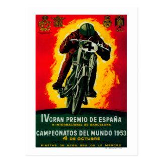 Gran Premio de Espana Vintage PosterEurope Post Cards