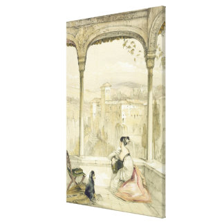 Granada (Alhambra), plate 9 from 'Sketches of Spai Canvas Print