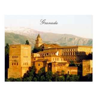 granada alhambra postcard