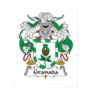 Granada Family Crest Post Cards