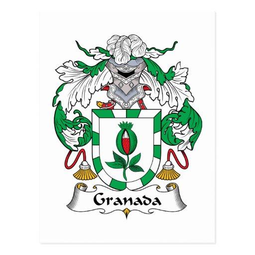 Granada Family Crest Post Cards