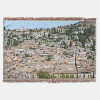 Granada. Panorama of Albaicin Throw Blanket