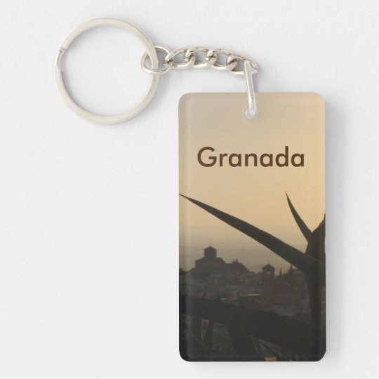 Granada souvenir Rectangle (double-sided) Keychain