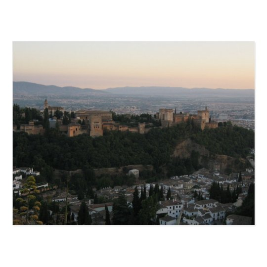 Granada Spain, Alhambra Postcard