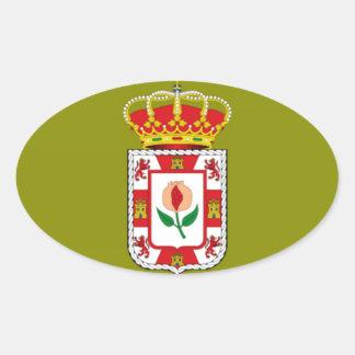 Granada (Spain) Provincial flag Oval Sticker