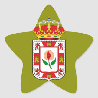 Granada (Spain) Provincial flag Star Sticker