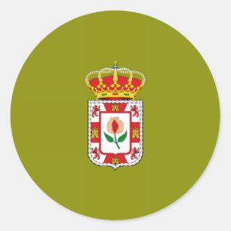 Granada (Spain) Provincial flag Round Sticker