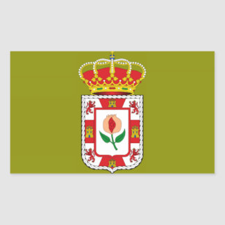 Granada (Spain) Provincial flag Rectangular Sticker