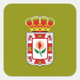 Granada (Spain) Provincial flag Square Sticker