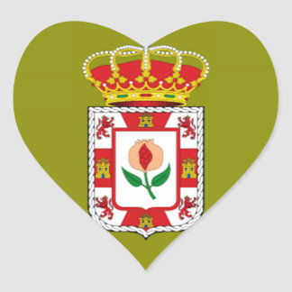 Granada (Spain) Provincial flag Heart Sticker