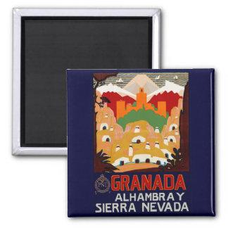Granada Spain Square Magnet