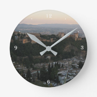 Granada,Spain View Photo Round (Medium) Wall Clock