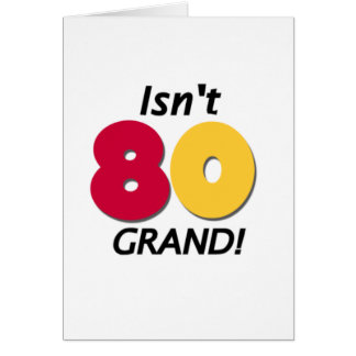 Grand 80th Birthday Card