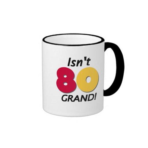 Grand 80th Birthday Mug
