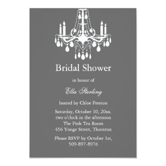 Grand Ballroom Bridal Shower Invitation (gray)
