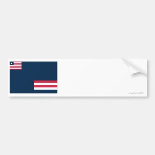 Grand Bassa County Flag Bumper Sticker