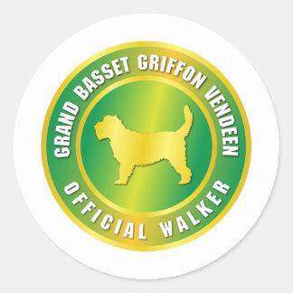Grand Basset Griffon Vendeen Round Sticker