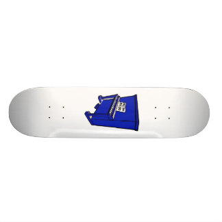 grand blue upright piano with music.png 18.4 cm mini skateboard deck