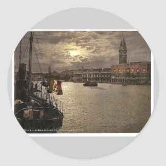 Grand Canal and Doges Palace by moonlight Venice Sticker