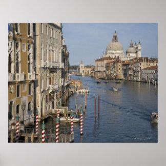 Grand Canal and Santa Maria Della Salute Church Poster
