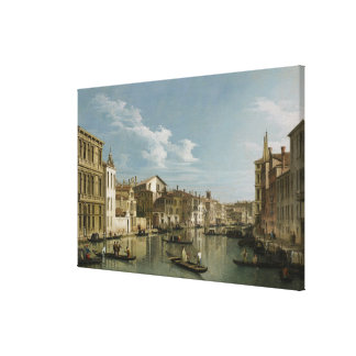 Grand Canal from Palazzo Flangini to Palazzo Bembo Gallery Wrapped Canvas