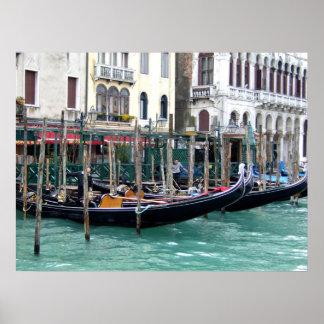 grand canal gondolas poster