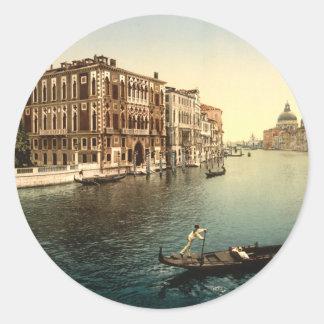 Grand Canal II Venice Italy Round Sticker